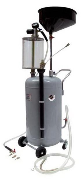 APAC 1839.80 Установка для слива и откачки масла/антифриза с подъемной ванной и мерной емкостью, мобильная
