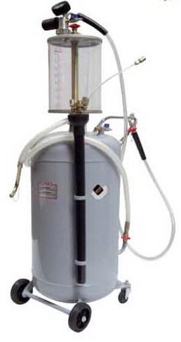 APAC 1837.80 Установка для откачки масла/антифриза с прозрачной мерной емкостью, мобильная