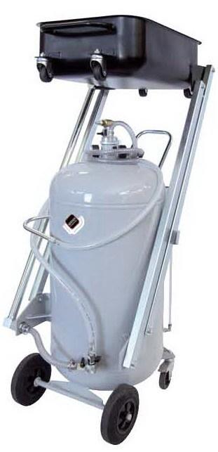 APAC 1834 Установка для слива и откачки масла/антифриза с пантографной ванной, мобильная