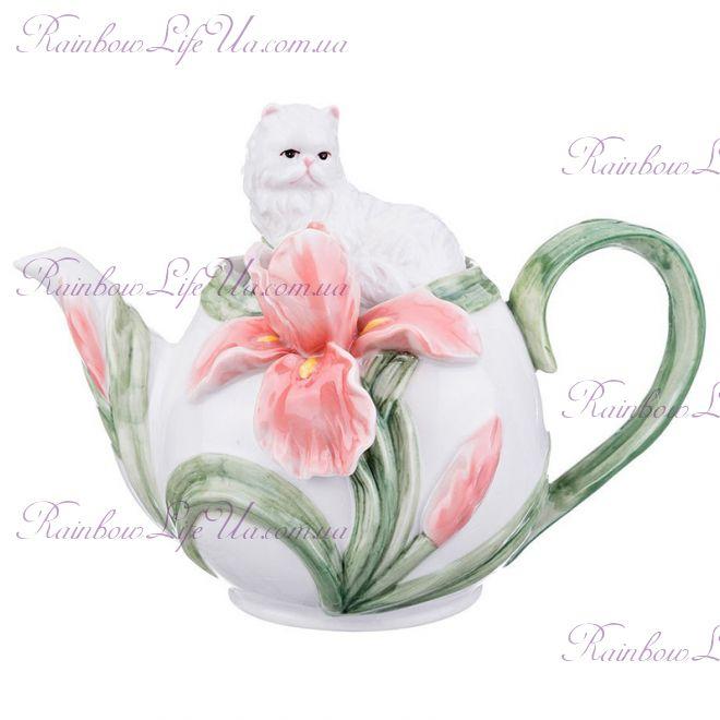 """Заварочный чайник Котенок с ирисом """"Pavone"""""""