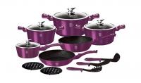 Набор посуды BERLINGER HAUS BH-1662N Royal Purple Metallic Line 15 пр.