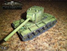 Сборная модель танка из бумаги Советский КВ-2 Тяжелый танк масштаб 1:35