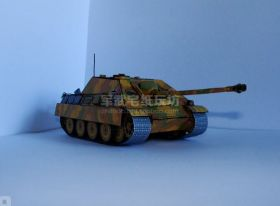 Сборная модель танка из бумаги САУ Ягдпантера масштаб 1:35