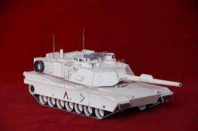 Сборная модель танка из бумаги США M1 Abrams основной боевой масштаб 1:35