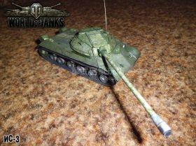 Сборная модель танка из бумаги Советский ИС-3 тяжелый масштаб 1:35