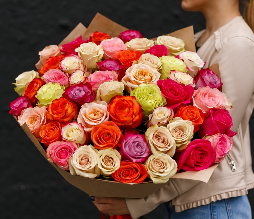 Роза 40 см. Микс. (от 11 шт.)