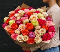 Эквадорские розы 40 см. Разные цвета, под ленту (11, 13, 15...шт.)