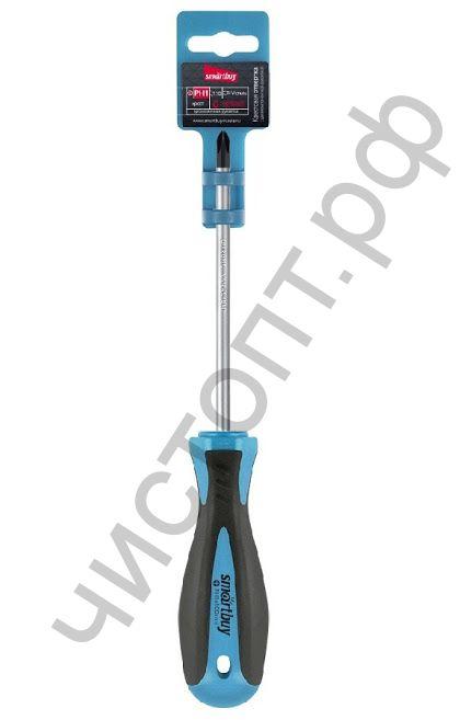 Отвертка крестовая PH1x150, эргономичная 2х-компонентная рукоятка, CR-V, магнит, Smartbuy Tools