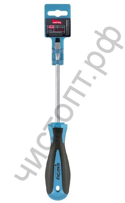 Отвертка шлицевая SL6x100, эргономичная 2х-компонентная рукоятка, CR-V, магнит, Smartbuy Tools