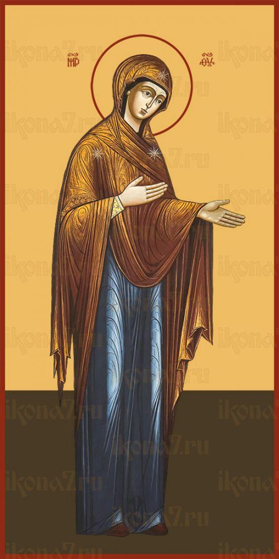 Мерная икона ДЕИСУСНАЯ ИКОНА БОЖИЕЙ МАТЕРИ (25x50см)