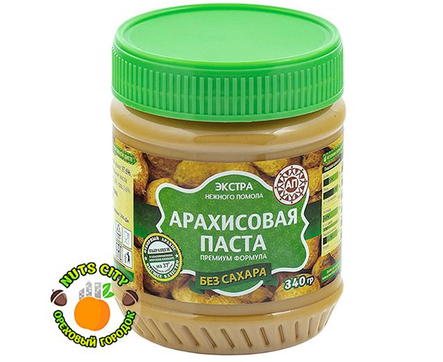 Арахисовая паста (без сахара) 340гр