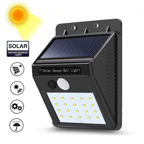 Светодиодный фонарь на солнечной батарее Solar sensor wall light
