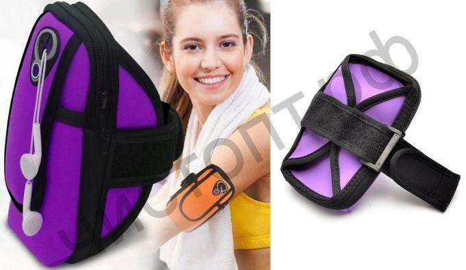 Чехол-нарукавник Орбита OT-SMH11 Фиолетовый для смартфона