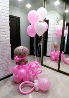 Гелиевые шары на выписку девочки