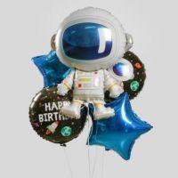 Космонавт, набор фольгированных шаров