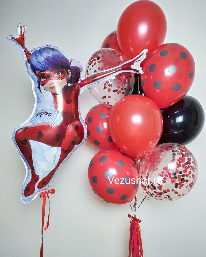 Композиция из воздушных шаров Леди Баг