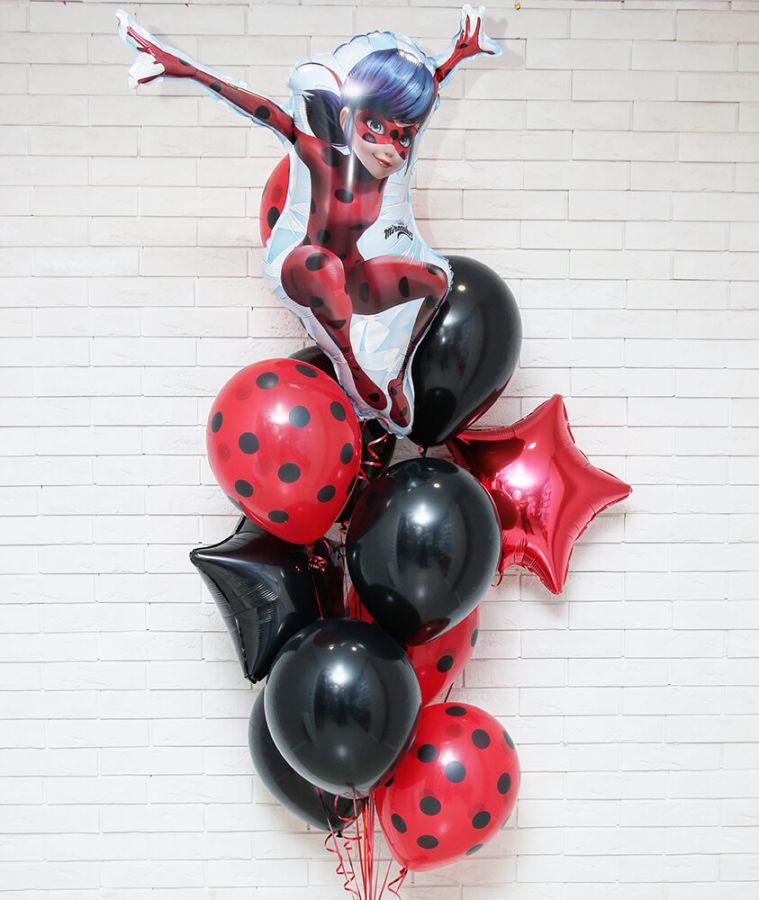 Композиция из воздушных шаров Леди Баг 56