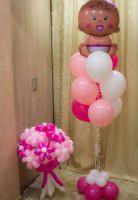 Оформление гелиевыми шарами выписка из роддома,  девочка-15