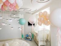 Гелиевые шары, выписка новорожденного