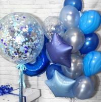 Композиция из воздушных шаров День рождение, мальчик