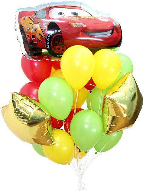 Гелиевые шары, композиция с шаром  Тачка 3