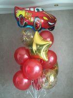 Композиция из гелиевых шаров День рождения, Тачка