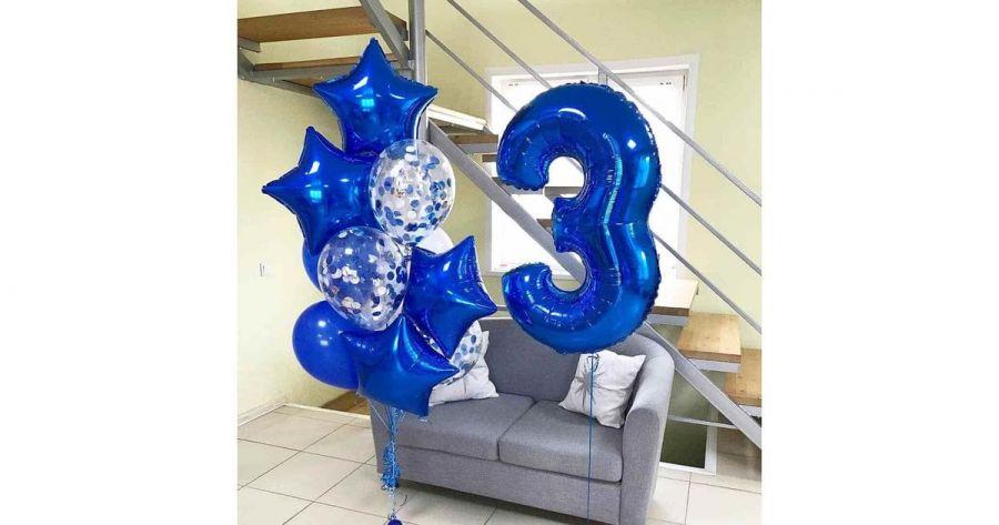 Композиция из воздушных шаров с гелием № 179