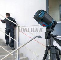 BOSCH GCL 2-50 + RM1 + BM3 + LR6 + кейс - Лазерный уровень фото