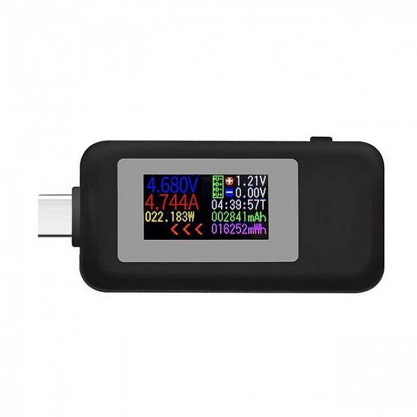 USB тестер KEWEISI KWS-MX1902С Черный