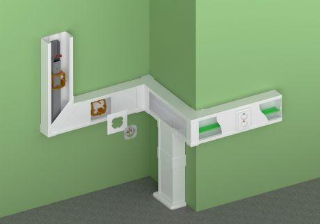 Монтаж короба (кабель-канала) для прокладки кабеля