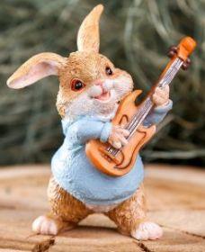 """Силиконовая форма """"Кролик - бард"""""""