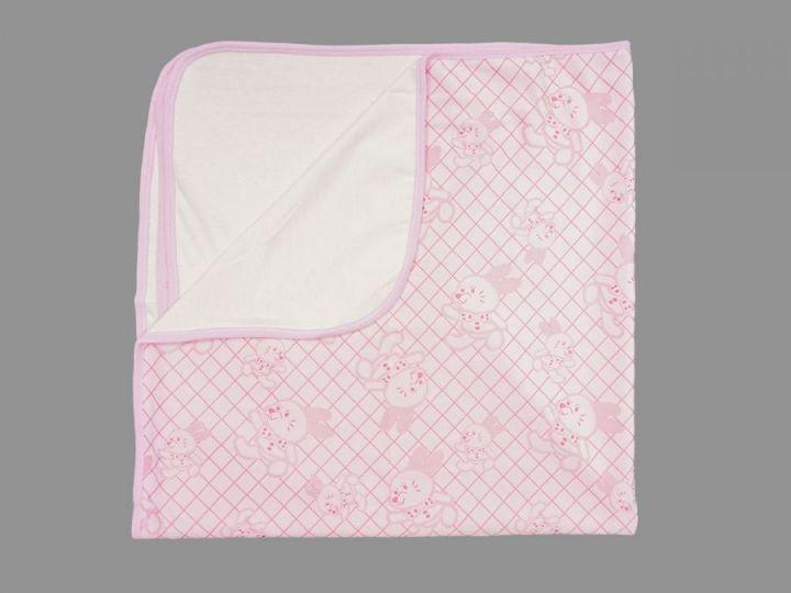 Плед детский 90х90 V-PO009-SUj (супрем жаккард, розовый)