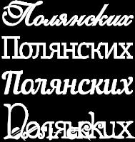 Фамилия из дерева Полянских на заказ