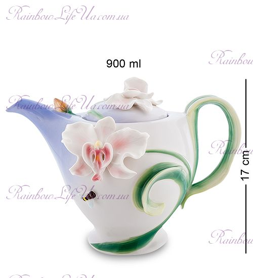 """Чайник заварочный Орхидея и пчела """"Pavone"""""""