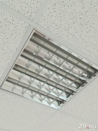 Установка Люминисцентных светильников с количеством ламп до 4-х