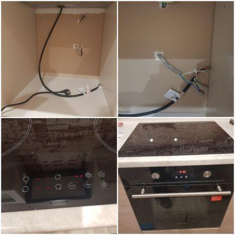 Подключение Электропечи, варочной поверхности, духового шкафа