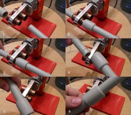 Монтаж трубы полипропиленовой со сваркой фитингов