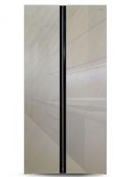 Холодильник GINZZU NFK-462 Шампань Стекло