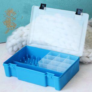 Контейнер-органайзер для швейных принадлежностей Синий 21х11х6.5 см