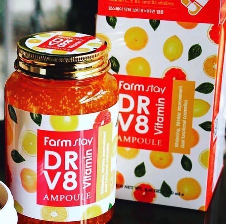 Многофункциональная ампульная сыворотка с витаминным комплексом Farmstay DR-V8 Vitamin Ampoule (KOREA ORIGINAL) (1124701)