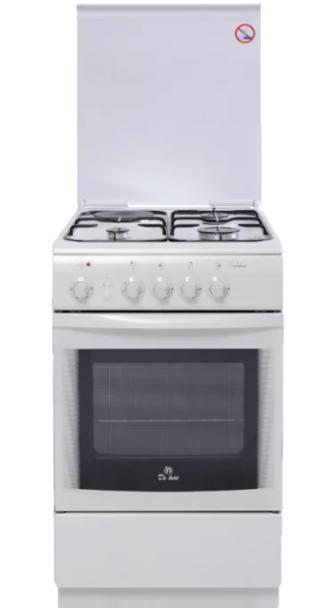 Комбинированная плита DE LUXE 506031.01ГЭ (958600) Белая