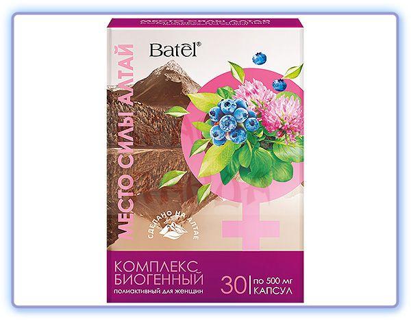 Комплекс биогенный полиактивный для женщин Место силы Алтай Batel