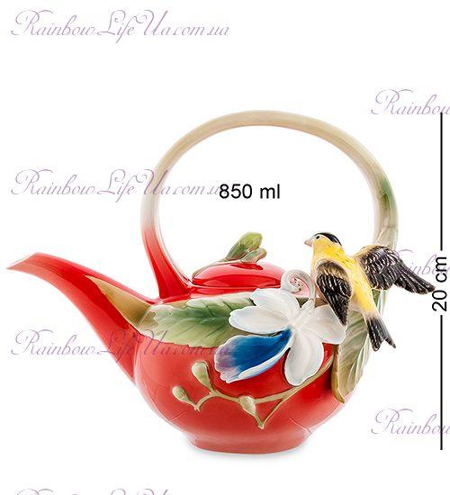 """Чайник заварочный Иволга и Орхидея """"Pavone"""""""