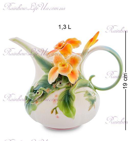 """Чайник заварочный Лягушки и цветы канны """"Pavone"""""""