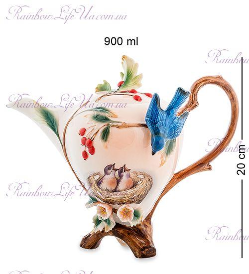 """Чайник заварочный Голубые птицы """"Pavone"""""""