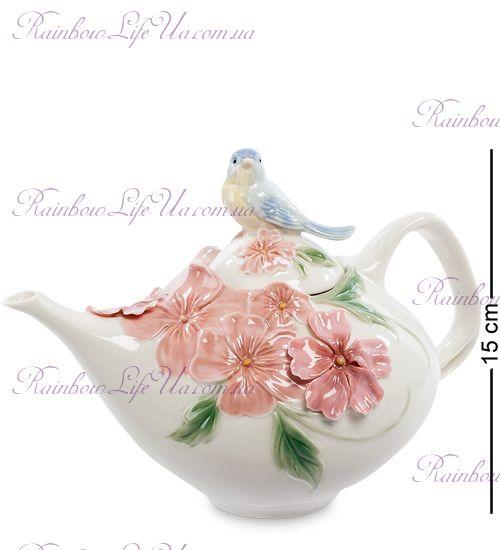 """Чайник заварочный Голубая птица Счастья """"Pavone"""""""
