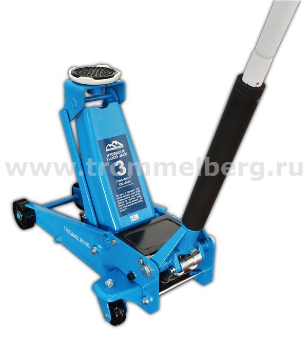 Домкрат подкатной гаражный XRD на 3 т (135/490 мм)