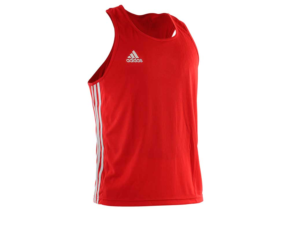 Майка боксерская Adidas Boxing Top Punch Line красная, размер XXS, артикул adiBTT02