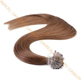 Натуральные волосы на кератиновой капсуле U-тип, №010 - 40 см, 100 капсул.