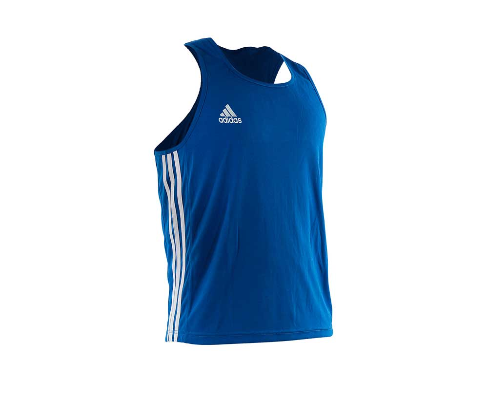 Майка боксерская Adidas Boxing Top Punch Line синяя, размер M, артикул adiBTT02